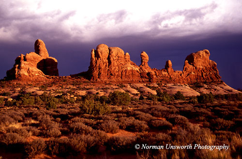 Sunset at the Windows in Arches